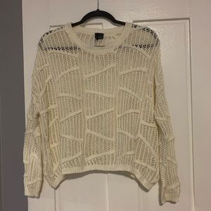 Sparkle & Fade knit cropped sweater